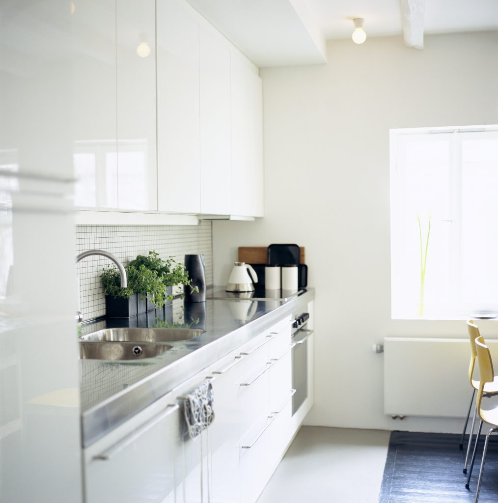 Kjøkken hvit interiør