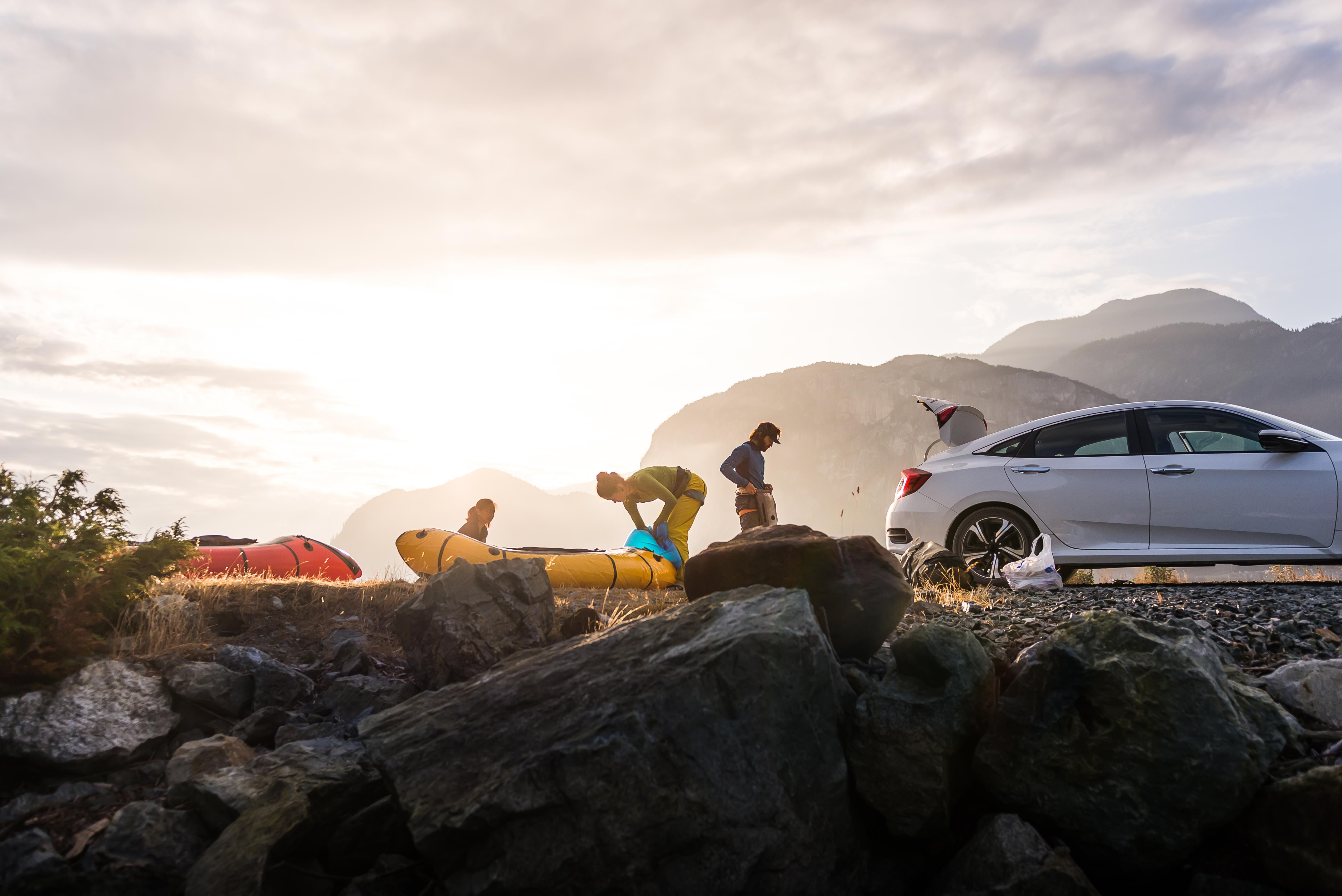 Bil kajakk friluftsliv fjell