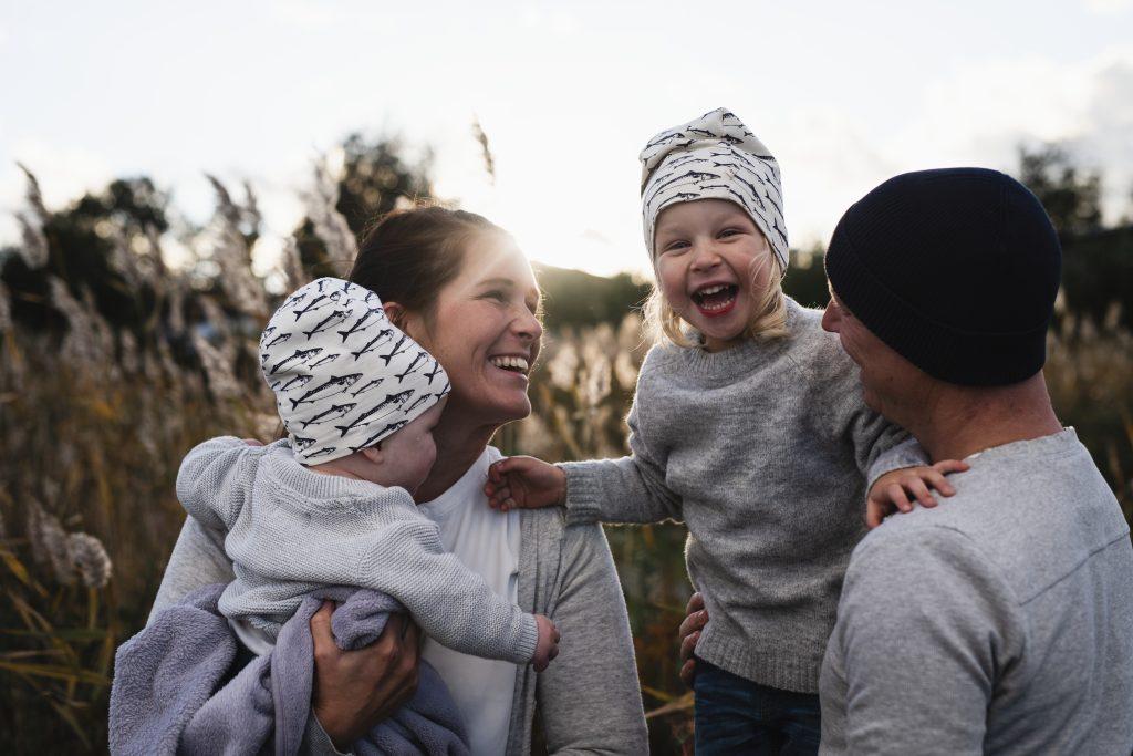 En glad familie