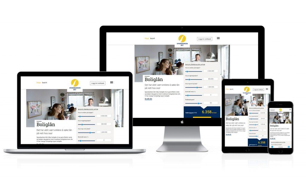 Ny nettside på forskjellige enheter